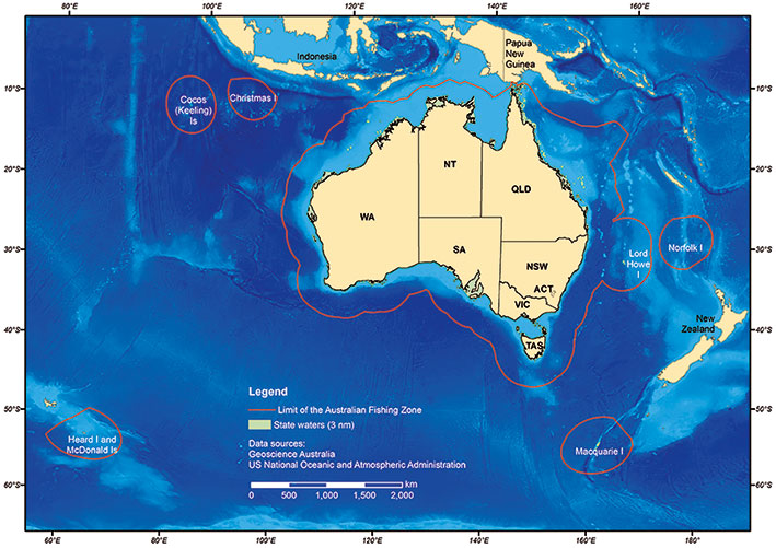 Limit of the Australian Fishing Zone